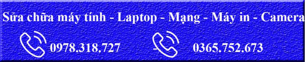 sửa chữa máy tính-laptop-mạng- máy in